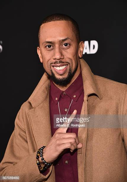 Actor Affion Crockett attends the premiere of Open Road Films' 'Fifty Shades of Black' at Regal Cinemas LA Live on January 26 2016 in Los Angeles...