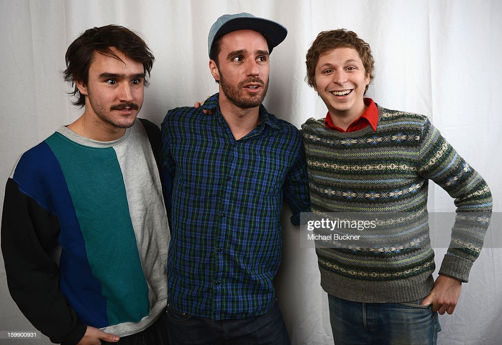 Actor Agustín Silva, producer Sebastián Silva and actor <a gi-track='captionPersonalityLinkClicked' href=/galleries/search?phrase=Michael+Cera&family=editorial&specificpeople=226654 ng-click='$event.stopPropagation()'>Michael Cera</a> pose for a portrait at the Photo Studio for MSN Wonderwall at ChefDance on January 22, 2013 in Park City, Utah.