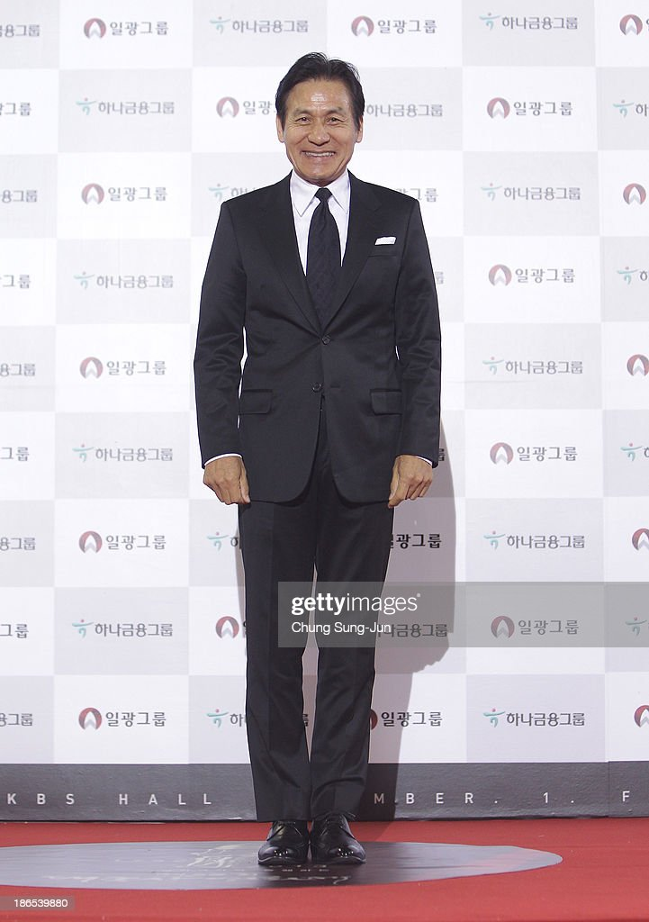 Actor Ahn Sung-Ki arrives for the 50th Daejong Film Awards at KBS hall on November 1, 2013 in Seoul, South Korea.