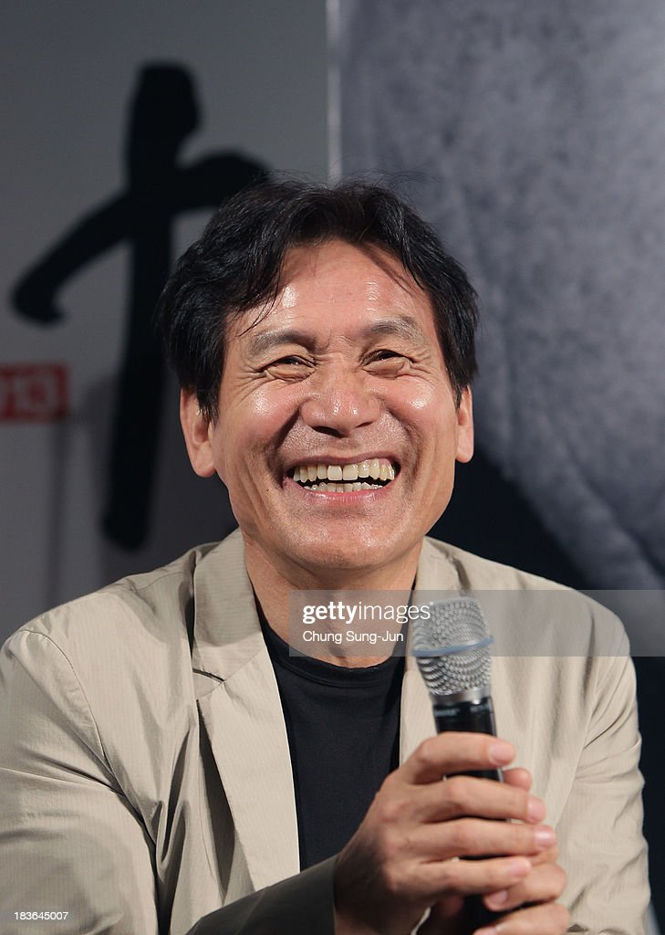 Actor Ahn Sung-Ki attends the 'Open Talk -Im Kwon-Taek and His Actors-' at the BIFF Hill during 18th Busan International Film Festival (BIFF) on October 8, 2013 in Busan, South Korea. The biggest film festival in Asia showcases 299 films from 70 countries and runs from October 3-12.