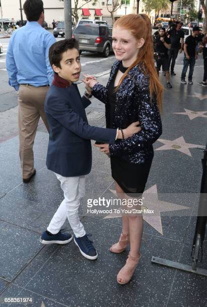 Actor Aidan Gallagher and actress Abby Donnelly are seen on March 26 2017 in Los Angeles California