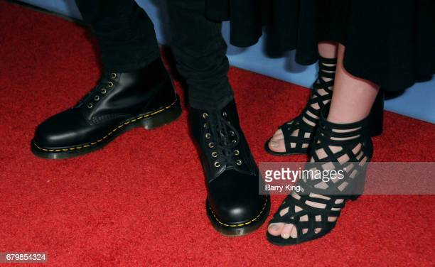 Actor Aidan Gallagher and actress Hannah McCloud shoe detail attend screening of Warner Bros Pictures' 'Everything Everything' at TCL Chinese Theatre...