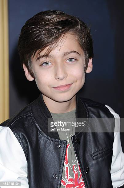 Actor Aidan Gallagher arrives at the 'The Hobbit The Battle Of The Five Armies' at Dolby Theatre on December 9 2014 in Hollywood California