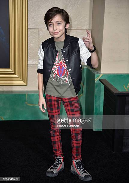 Actor Aidan Gallagher attends the premiere of New Line Cinema MGM Pictures And Warner Bros Pictures' 'The Hobbit The Battle Of The Five Armies' at...
