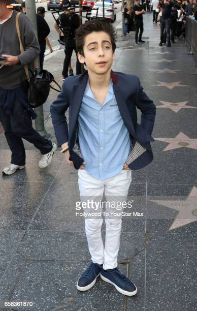 Actor Aidan Gallagher is seen on March 26 2017 in Los Angeles California