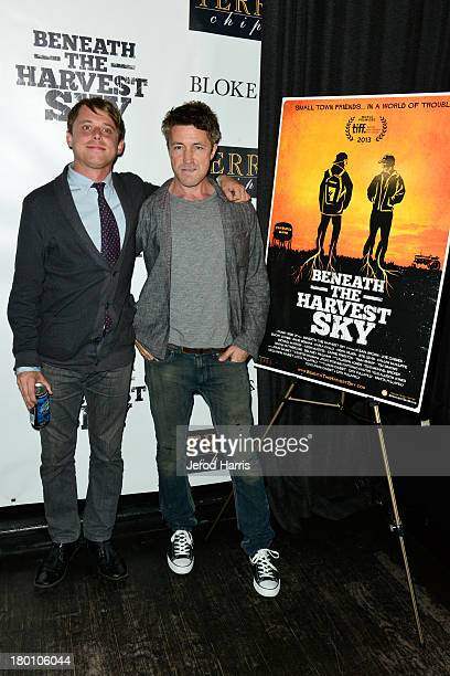 Actor Aidan Gillen and guest attend the 'Beneath The Harvest Sky' cast party sponsored by TERRA during the 2013 Toronto International Film Festival...