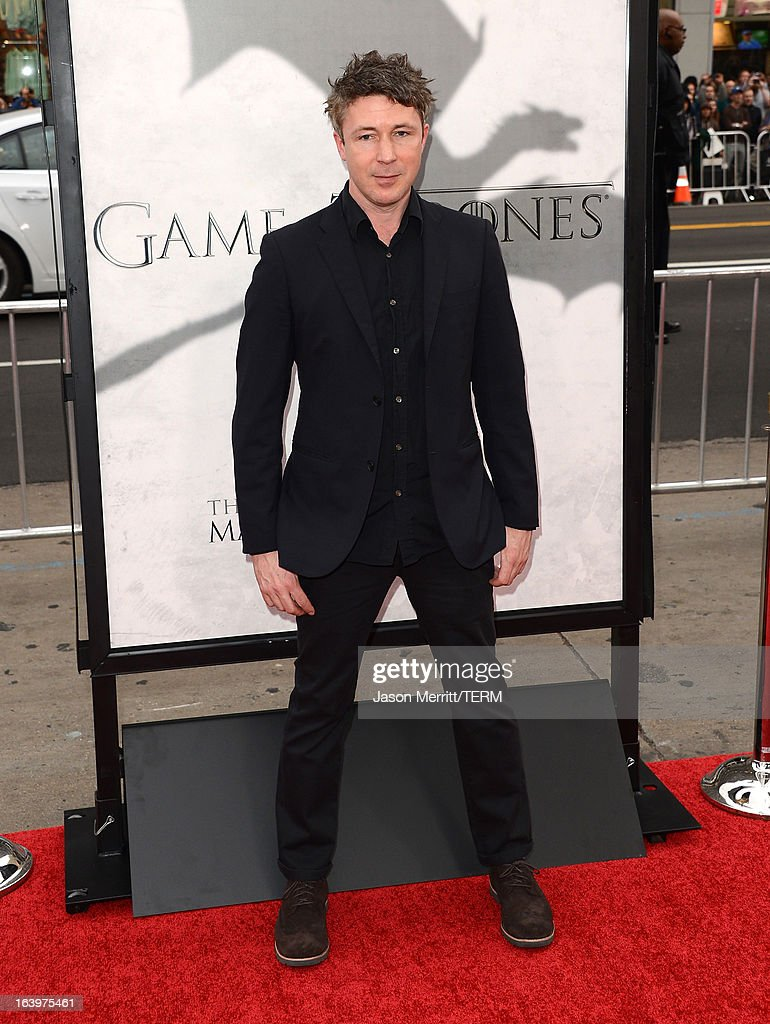 Actor Aidan Gillen arrives at the premiere of HBO's 'Game Of Thrones' Season 3 at TCL Chinese Theatre on March 18, 2013 in Hollywood, California.