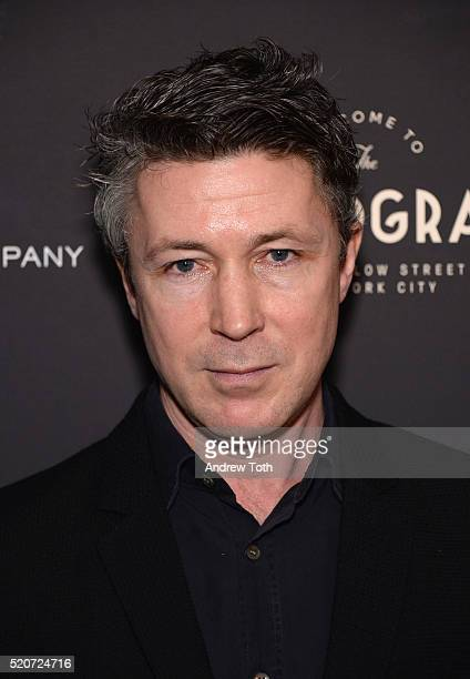Actor Aidan Gillen arrives at The Weinstein Company hosts the premiere of 'Sing Street' at Metrograph on April 12 2016 in New York City