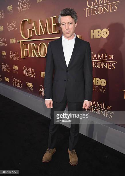 Actor Aidan Gillen attends HBO's 'Game of Thrones' Season 5 Premiere and After Party at the San Francisco Opera House on March 23 2015 in San...
