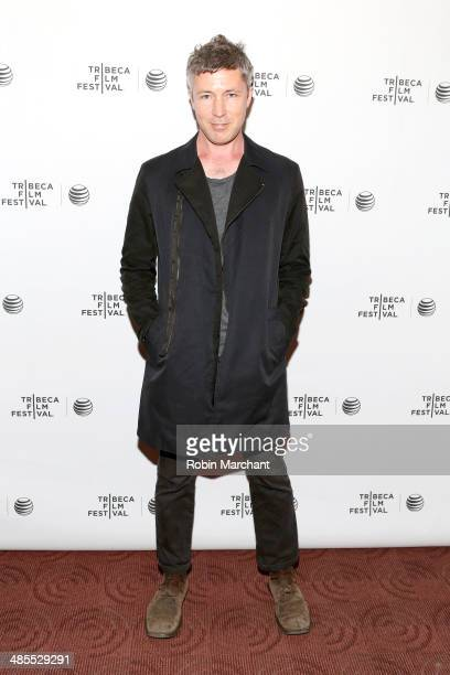 Actor Aidan Gillen attends the 'Beneath the Harvest Sky' Premiere during the 2014 Tribeca Film Festival at Chelsea Bow Tie Cinemas on April 18 2014...