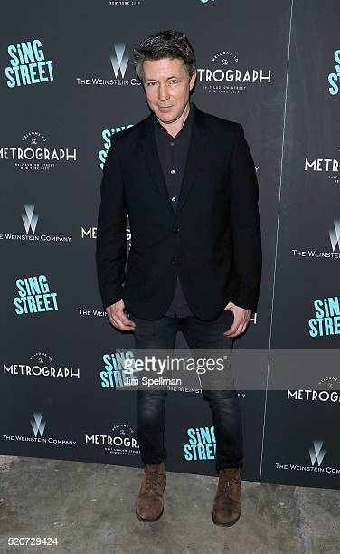Actor Aidan Gillen attends the premiere of 'Sing Street' hosted by The Weinstein Company at Metrograph on April 12 2016 in New York City