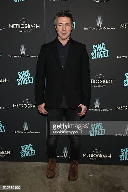 Actor Aidan Gillen attends The Weinstein Company Hosts The Premiere of 'Sing Street' at Metrograph on April 12 2016 in New York City