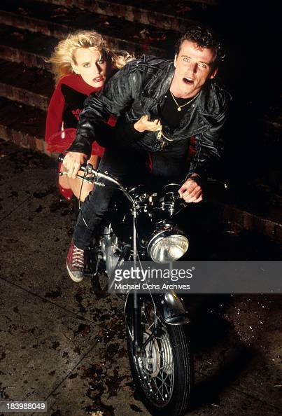 Actor Aidan Quinn and actress Daryl Hannah in a scene from the MGM movie ' Reckless' in 1983