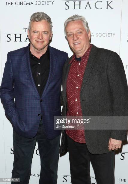 Actor Aidan Quinn and cinematographer Declan Quinn attend the world premiere of 'The Shack hosted by Lionsgate at Museum of Modern Art on February 28...