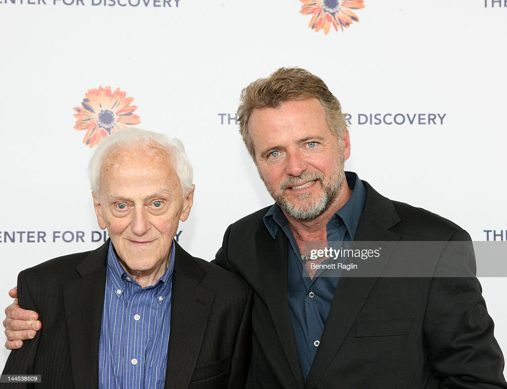 Actor <a gi-track='captionPersonalityLinkClicked' href=/galleries/search?phrase=Aidan+Quinn&family=editorial&specificpeople=171142 ng-click='$event.stopPropagation()'>Aidan Quinn</a> (R) and father Michael Quinn attend the 'Evening Of Discovery' Gala at Pier Sixty at Chelsea Piers on May 15, 2012 in New York City.