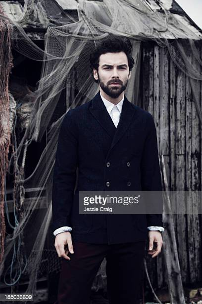 Actor Aidan Turner is photographed for Article magazine on August 7 2013 in Romney Marsh England