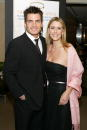 Actor Aiden Turner and girlfriend Megan Marshall attends Garland Appeal Breast Cancer Benefit commemorating the life of Linda McCartney at Christie's...
