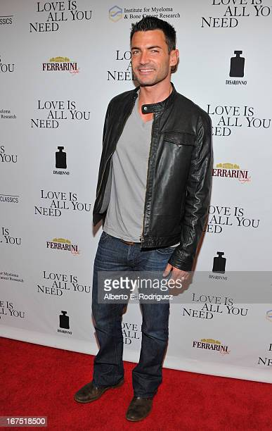 Actor Aiden Turner arrives to the premiere of Sony Pictures Classics' 'Love Is All You Need' at Linwood Dunn Theater at the Pickford Center for...