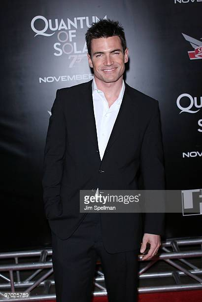 Actor Aiden Turner attends the 2008 Tribeca Film Institute Fall Benefit screening of 'Quantum of Solace' at the AMC Lincoln Square theatre on...