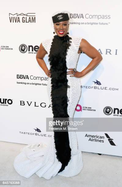 Actor Aisha Hinds attends the 25th Annual Elton John AIDS Foundation's Academy Awards Viewing Party at The City of West Hollywood Park on February 26...