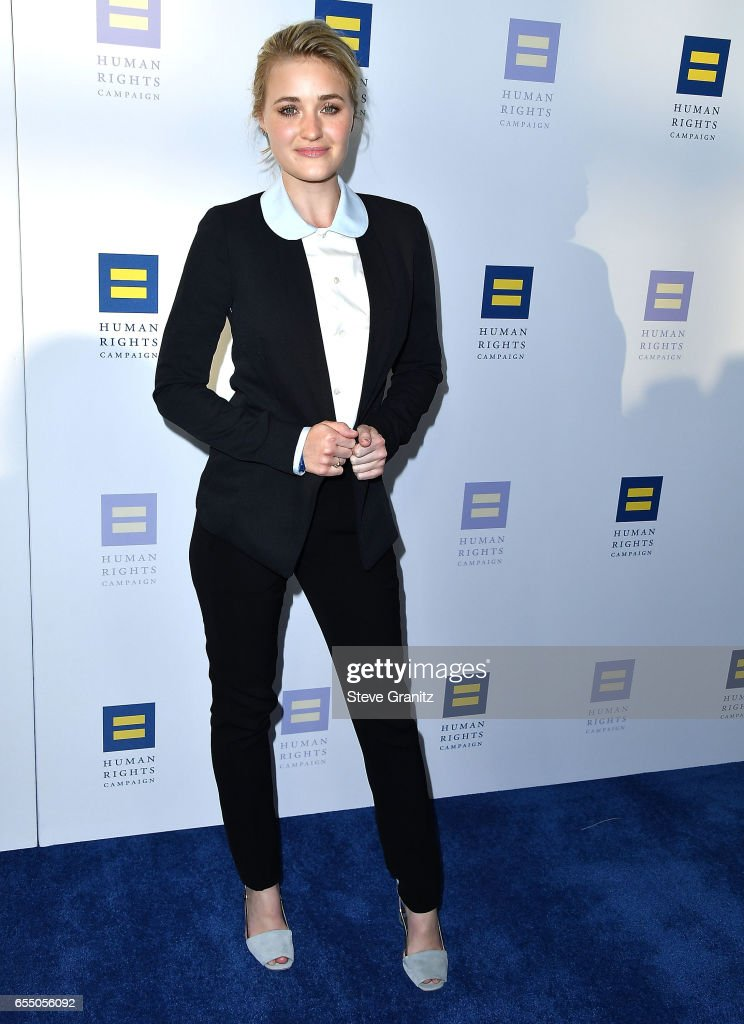 Actor AJ Michalka arrives at the Human Rights Campaign's 2017 Los Angeles Gala Dinner at JW Marriott Los Angeles at L.A. LIVE on March 18, 2017 in Los Angeles, California.