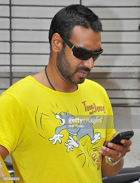 Actor Ajay Devgan meets his fans at an event in Mumbai on June 11 2010