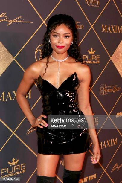 Actor Ajiona Alexus attends the 2017 MAXIM Hot 100 Party at Hollywood Palladium on June 24 2017 in Los Angeles California