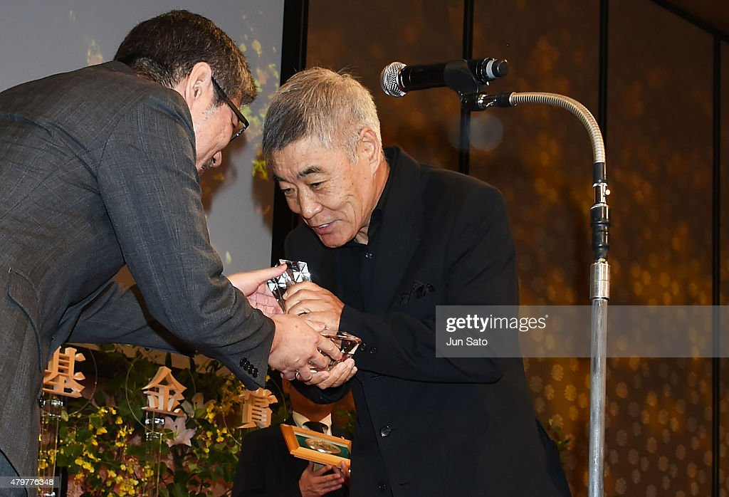 Actor Akira Emoto attends the Hoso Bunka Foundation Prize on July 7, 2015 in Tokyo, Japan.