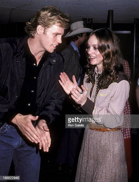 Actor Al Corley and actress Pamela Sue Martin attend Bo Hopkins' 39th Birthday Party on February 7 1981 at the Continental Hyatt Hotel in Hollywood...