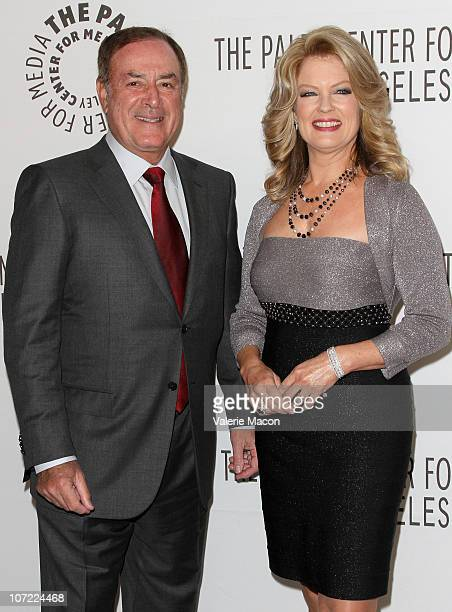 Actor Al Michaels and TV Personnality Mary Hart arrives at The Paley Center For Media Annual Gala Honoring Mary Hart And Al Michaels Salute To...