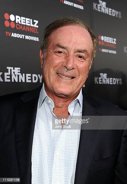 Actor Al Michaels arrives at The ReelzChannel World premiere of 'The Kennedys' at AMPAS Samuel Goldwyn Theater on March 28 2011 in Beverly Hills...