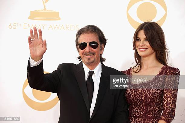 Actor Al Pacino and Lucila Sola arrive at the 65th Annual Primetime Emmy Awards held at Nokia Theatre LA Live on September 22 2013 in Los Angeles...