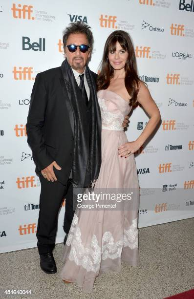 Actor Al Pacino and Lucila Sola attend 'The Humbling' premiere during the 2014 Toronto International Film Festival at The Elgin on September 4 2014...