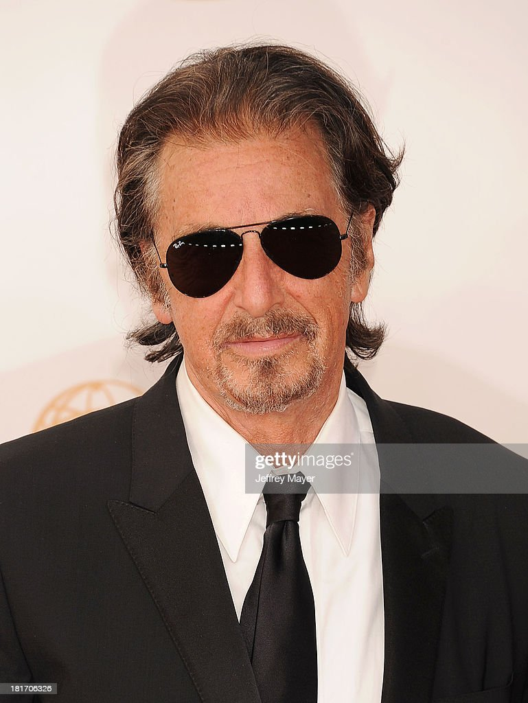 Actor Al Pacino arrives at the 65th Annual Primetime Emmy Awards at Nokia Theatre LA Live on September 22 2013 in Los Angeles California