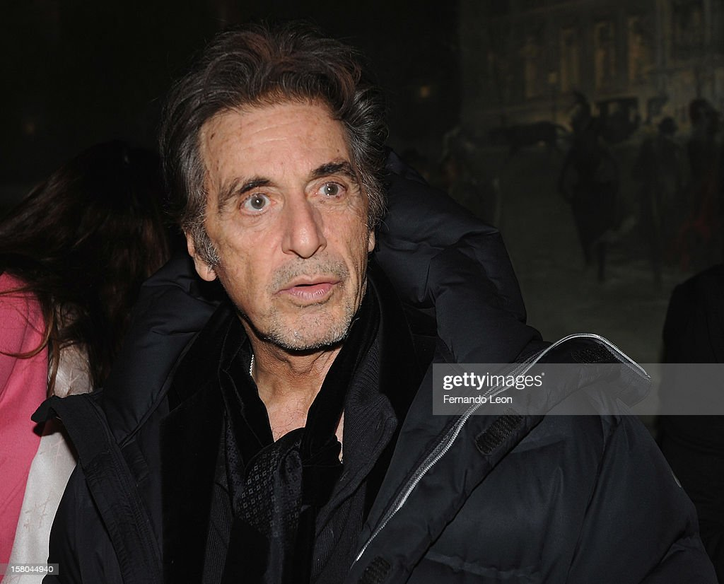 Actor <a gi-track='captionPersonalityLinkClicked' href=/galleries/search?phrase=Al+Pacino&family=editorial&specificpeople=202658 ng-click='$event.stopPropagation()'>Al Pacino</a> attend The Cinema Society With Chrysler & Bally Host The Premiere Of 'Stand Up Guys' After Party at The Plaza Hotel on December 9, 2012 in New York City.