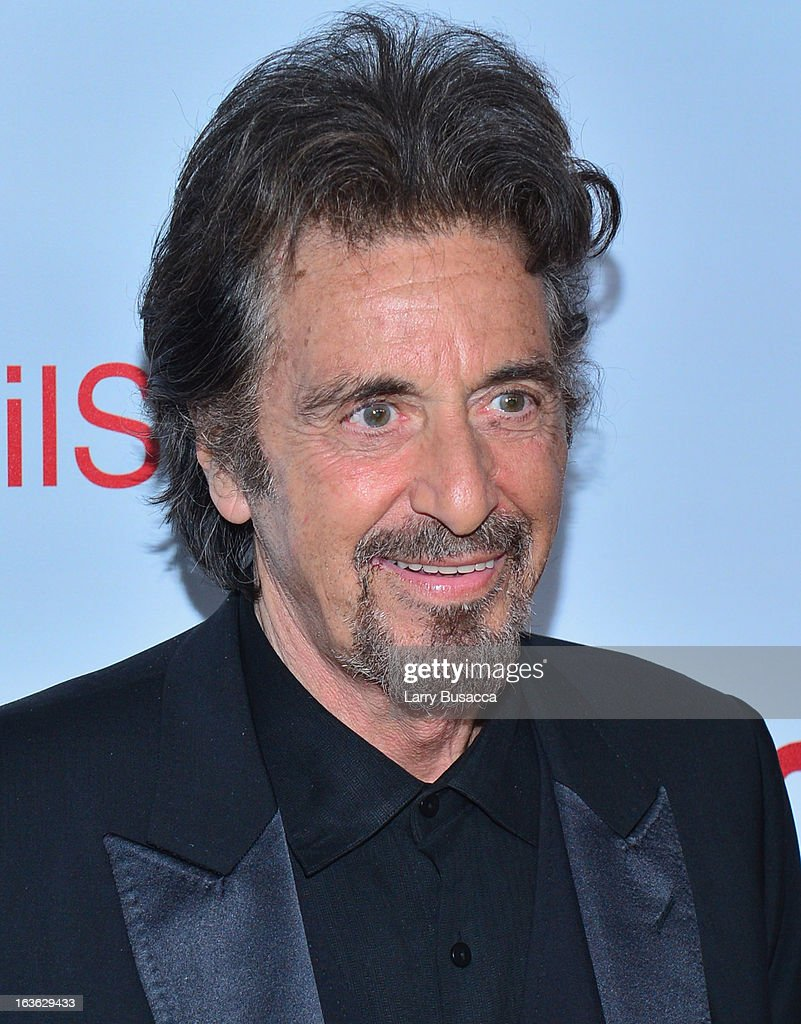 Actor <a gi-track='captionPersonalityLinkClicked' href=/galleries/search?phrase=Al+Pacino&family=editorial&specificpeople=202658 ng-click='$event.stopPropagation()'>Al Pacino</a> attend the 'Phil Spector' premiere at the Time Warner Center on March 13, 2013 in New York City.