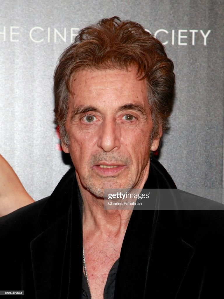 Actor Al Pacino attends The Cinema Society With Chrysler & Bally Host The Premiere Of 'Stand Up Guys' at The Museum of Modern Art on December 9, 2012 in New York City.