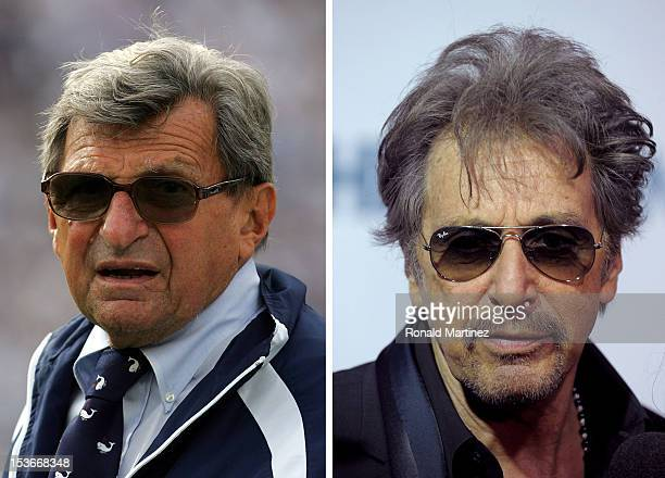 In this composite image a comparison has been made between Joe Paterno and Al Pacino Actor Al Pacino will reportedly play football couch Joe Paterno...