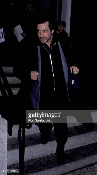 Actor Al Pacino attends the opening of Robert DeNiro Sr Art Exhibit on January 7 1995 at SandlerO'Reilly Gallery in New York City