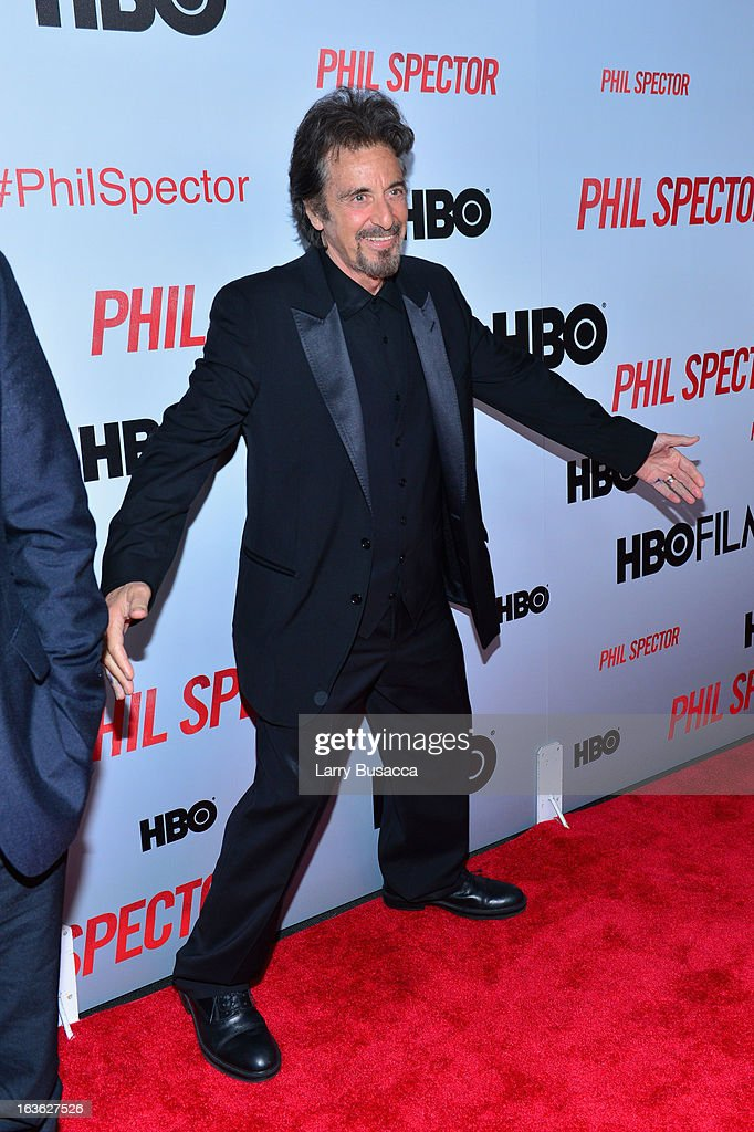 Actor Al Pacino attends the 'Phil Spector' premiere at the Time Warner Center on March 13, 2013 in New York City.