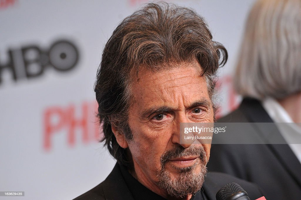 Actor <a gi-track='captionPersonalityLinkClicked' href=/galleries/search?phrase=Al+Pacino&family=editorial&specificpeople=202658 ng-click='$event.stopPropagation()'>Al Pacino</a> attends the 'Phil Spector' premiere at the Time Warner Center on March 13, 2013 in New York City.