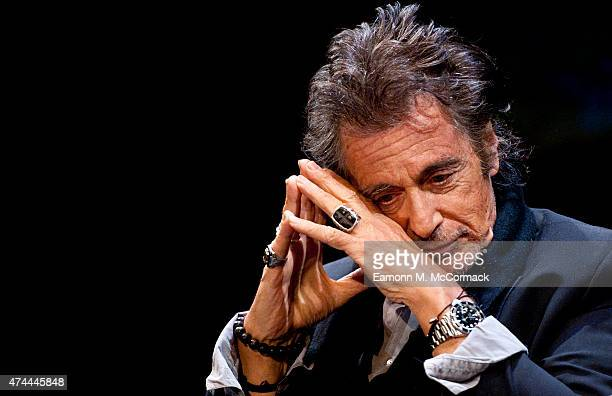 Actor Al Pacino during An Evening With Al Pacino at Eventim Apollo on May 22 2015 in London England