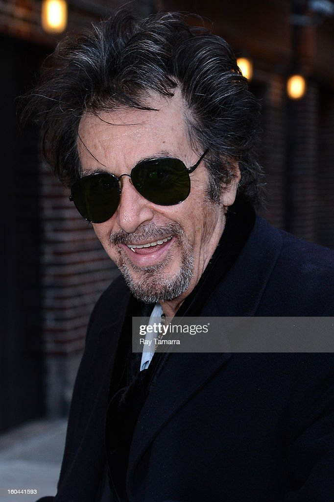 Actor Al Pacino enters the 'Late Show With David Letterman' taping at the Ed Sullivan Theater on January 31, 2013 in New York City.