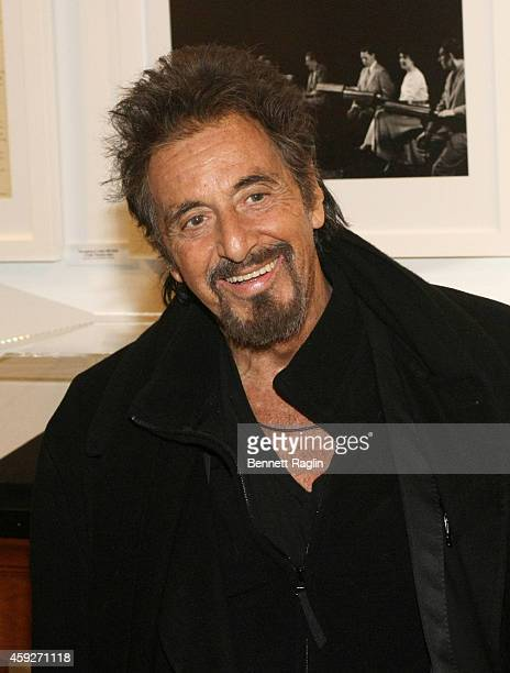 Actor Al Pacino poses for a picture during 92nd Street Y Presents An Evening With Al Pacino at 92nd Street Y on November 19 2014 in New York City