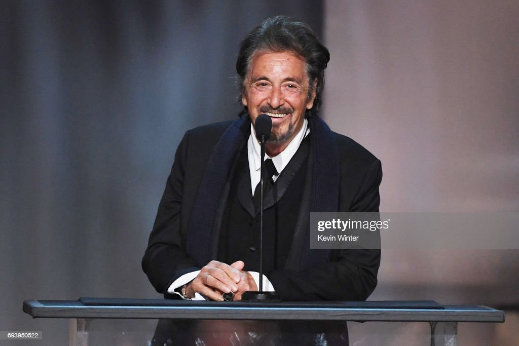Actor Al Pacino speaks onstage during American Film Institute's 45th Life Achievement Award Gala Tribute to Diane Keaton at Dolby Theatre on June 8, 2017 in Hollywood, California. 26658_007