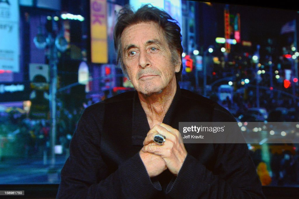 Actor Al Pacino speaks via sattelite about the new HBO Film 'Phil Spector' during the HBO Winter 2013 TCA Panel at The Langham Huntington Hotel and Spa on January 4, 2013 in Pasadena, California.