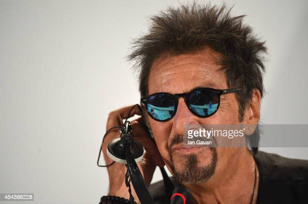 Actor Al Pacino wearing a JaegerLeCoultre Deep Sea Vintage watch attends the 'The Humbling' press conference before the photocall during the 71st...