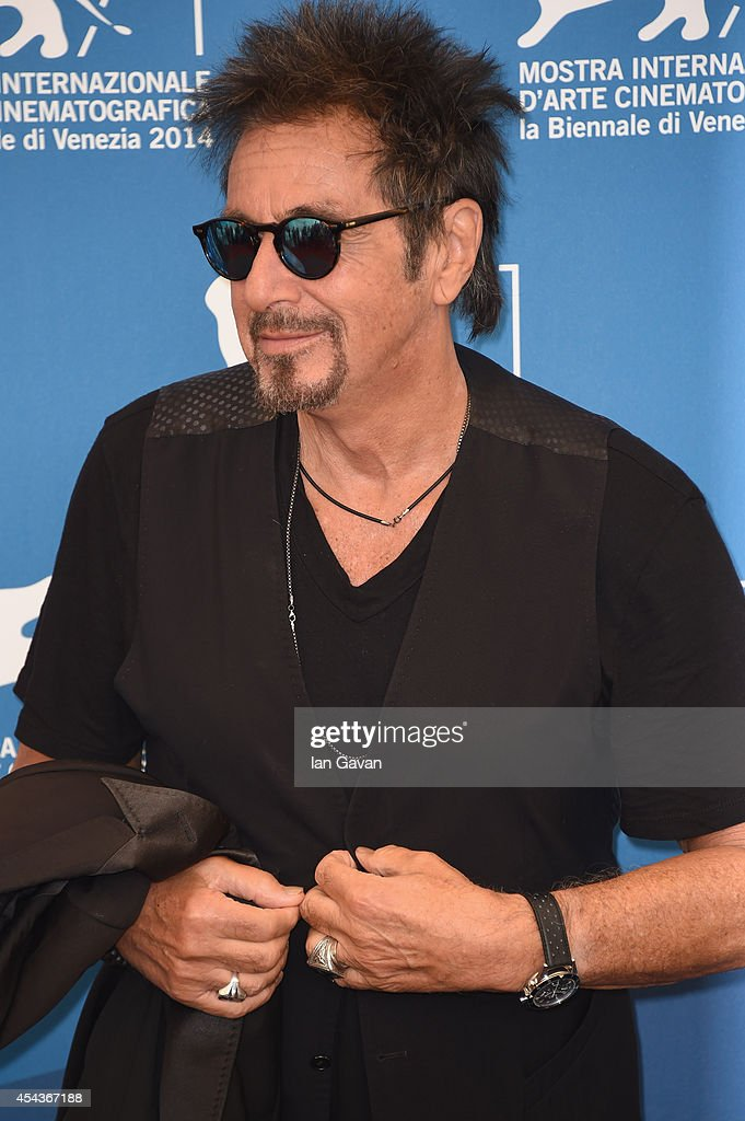 Actor <a gi-track='captionPersonalityLinkClicked' href=/galleries/search?phrase=Al+Pacino&family=editorial&specificpeople=202658 ng-click='$event.stopPropagation()'>Al Pacino</a> wearing a Jaeger-LeCoultre Deep Sea Vintage watch attends the 'The Humbling' the photocall during the 71st Venice Film Festival at the Palazzo del Casino on August 30, 2014 in Venice, Italy.