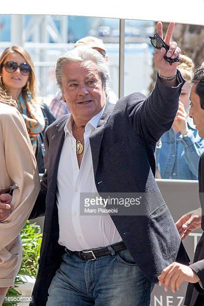 Actor Alain Delon is seen at the 'Grand Hyatt Cannes Hotel Martinez' during the 66th Annual Cannes Film Festival on May 26 2013 in Cannes France
