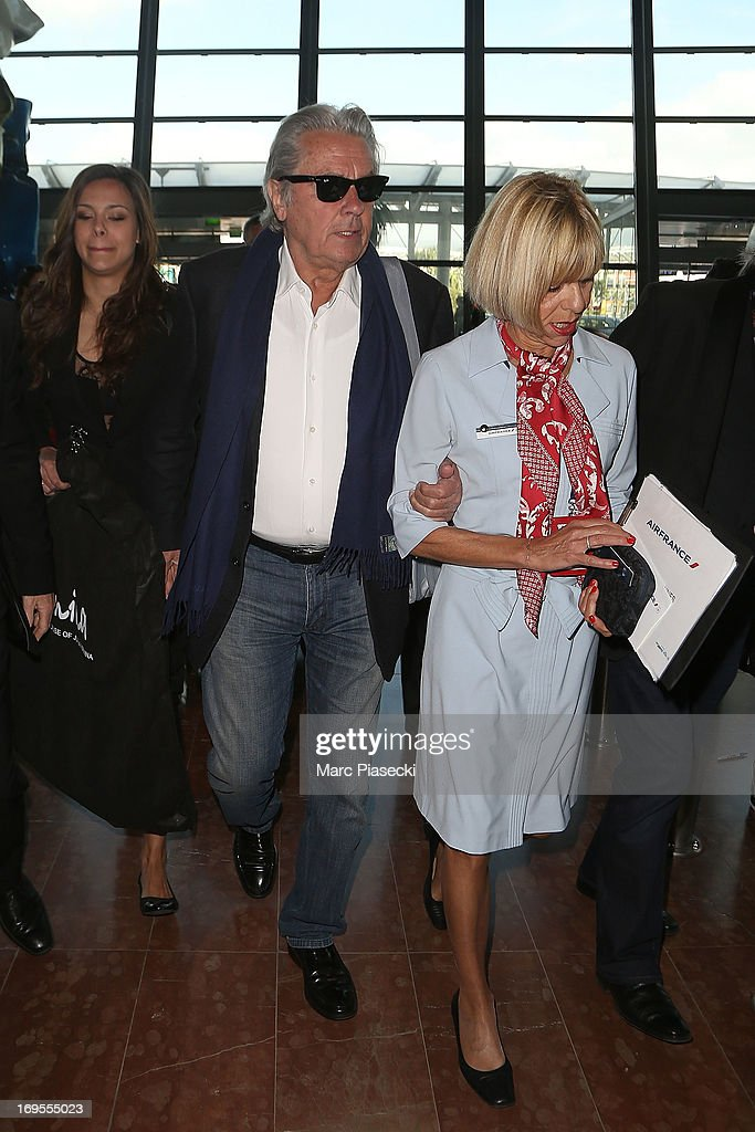 Actor Alain Delon is sighted at Nice airport after the 66th Annual Cannes Film Festival on May 27, 2013 in Nice, France.